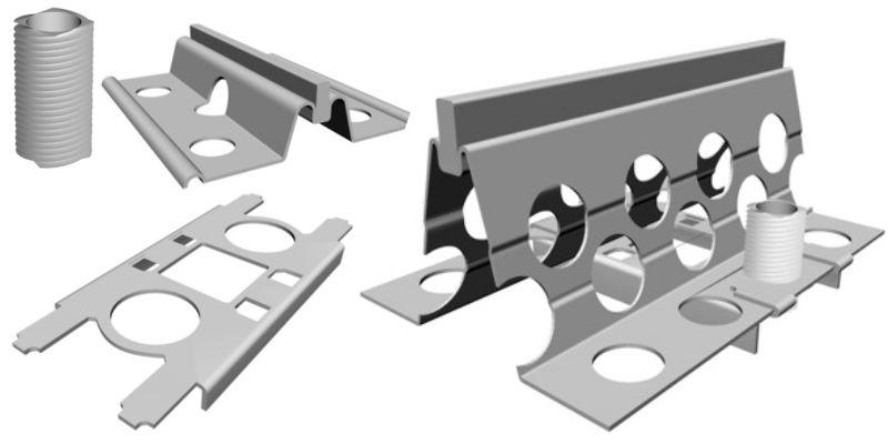 Рельс форма для бетонирования